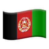 Flag: Afghanistan on Apple iOS 8.3