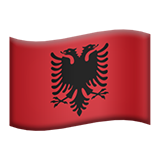 Flag: Albania on Apple iOS 8.3