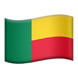 Flag: Benin on Apple iOS 8.3