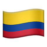 Flag: Colombia on Apple iOS 8.3
