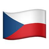 Flag: Czechia on Apple iOS 8.3