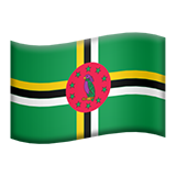 Flag: Dominica on Apple iOS 8.3