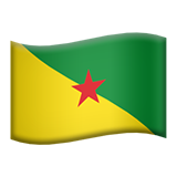 Flag: French Guiana on Apple iOS 8.3