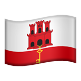 Flag: Gibraltar on Apple iOS 8.3