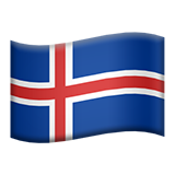 Flag: Iceland on Apple iOS 8.3