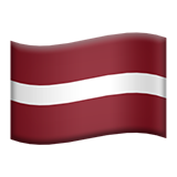 Flag: Latvia on Apple iOS 8.3