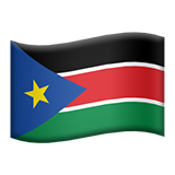 Flag: South Sudan on Apple iOS 8.3