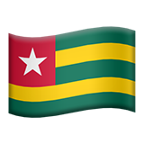Flag: Togo on Apple iOS 8.3