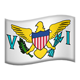 Flag: U.S. Virgin Islands on Apple iOS 8.3