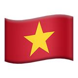 Flag: Vietnam on Apple iOS 8.3
