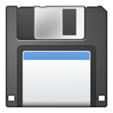 Floppy Disk on Apple iOS 8.3