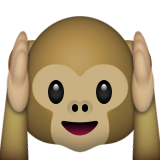 Hear-No-Evil Monkey on Apple iOS 8.3