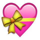 Heart with Ribbon on Apple iOS 8.3