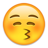 Kissing Face with Closed Eyes on Apple iOS 8.3