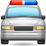 Oncoming Police Car on Apple iOS 8.3