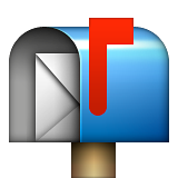Open Mailbox with Raised Flag on Apple iOS 8.3