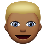 Person: Medium-Dark Skin Tone, Blond Hair on Apple iOS 8.3