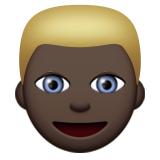 Person: Dark Skin Tone, Blond Hair on Apple iOS 8.3