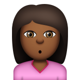 Person Pouting: Medium-Dark Skin Tone on Apple iOS 8.3