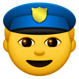 Police Officer on Apple iOS 8.3