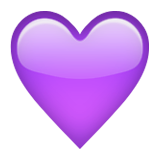 Purple Heart on Apple iOS 8.3