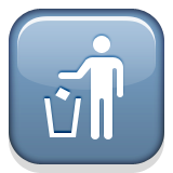 Litter in Bin Sign on Apple iOS 8.3
