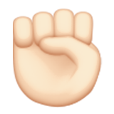 Raised Fist: Light Skin Tone on Apple iOS 8.3