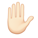 Raised Hand: Light Skin Tone on Apple iOS 8.3