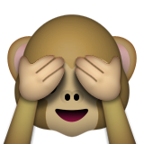 See-No-Evil Monkey on Apple iOS 8.3