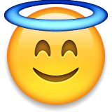 Smiling Face With Halo on Apple iOS 8.3