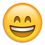 Grinning Face with Smiling Eyes on Apple iOS 8.3