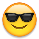Smiling Face With Sunglasses on Apple iOS 8.3