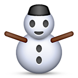 Snowman Without Snow on Apple iOS 8.3