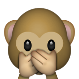 Speak-No-Evil Monkey on Apple iOS 8.3