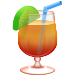 Tropical Drink on Apple iOS 8.3