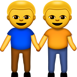 Men Holding Hands on Apple iOS 8.3