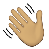 Waving Hand: Medium Skin Tone on Apple iOS 8.3