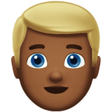 Man: Medium-Dark Skin Tone, Blond Hair on Apple iOS 10.0