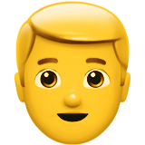 Man: Blond Hair on Apple iOS 10.0