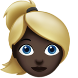Woman: Dark Skin Tone, Blond Hair on Apple iOS 10.0
