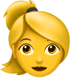 Woman: Blond Hair on Apple iOS 10.0
