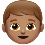 Boy: Medium Skin Tone on Apple iOS 10.0