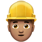 Construction Worker: Medium Skin Tone on Apple iOS 10.0