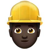 Construction Worker: Dark Skin Tone on Apple iOS 10.0
