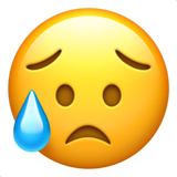 Sad but Relieved Face on Apple iOS 10.0