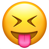Squinting Face with Tongue on Apple iOS 10.0
