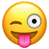 Winking Face With Tongue on Apple iOS 10.0