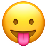 Face with Tongue on Apple iOS 10.0