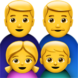 Family: Man, Man, Girl, Boy on Apple iOS 10.0