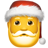 Santa Claus on Apple iOS 10.0